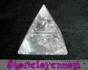 Clear Quartz Pyramid / หินทรงปิรามิดควอตซ์ใส [12119806]