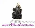 Hematite Lord Ganesh Pendant / พระพิฆเนศวร์เฮมาไทต์ [07120438]