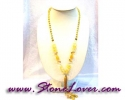 Honey Jade Necklace / สร้อยคอหยกน้ำผึ้ง [09026571]