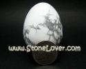 Howlite Egg shape / หินทรงไข่ โฮว์ไลต์ [13040851]