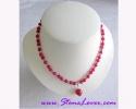 Indian Ruby Necklace / สร้อยคอทับทิมอินเดีย [13002]