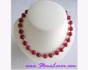 Indian Ruby Necklace  / สร้อยคอทับทิมอินเดีย [13001]