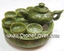 Jade Cut Shape / ชุดน้ำชาหยกเขียว [13040877]