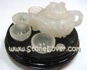 Jade Cut Shape / ชุดน้ำชาหยกขาว [13040879