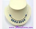 Lapis Lazuli Necklace  / สร้อยคอลาพีส ลาซูลี่ [12404]