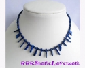 Lapis Lazuli Necklace  / สร้อยคอลาพีส ลาซูลี่ [12423]