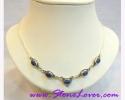 Lapis Lazuli Necklace / สร้อยคอลาพีส ลาซูลี่ [12407]