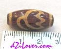 Lotus dZi Bead / หินทิเบตดอกบัว [00L013]