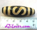 Money&Luck Hook dZi Bead /หินทิเบตตะขอเกี่ยวเงินเกี่ยวทอง [00S01