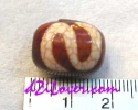 Money&Luck Hook dZi Bead / หินทิเบตตะขอเกี่ยวเงินเกี่ยวทอง [00S0