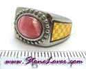 Rhodochrosite Ring / แหวนโรโดโครไซต์ [09056811]