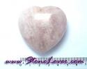 Rose Quartz Heart Shape / หินทรงหัวใจโรส ควอตซ์ [08011507]