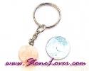 Rose Quartz Key Chain / พวงกุญแจโรส ควอตซ์-รูปดอกไม้ [07121221]