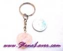 Rose Quartz Key Chain / พวงกุญแจโรส ควอตซ์-รูปหัวใจ [07121251]