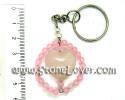 Rose Quartz Key Chain / พวงกุญแจโรส ควอตซ์ [13091251]