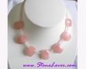 Rose Quartz Necklace / สร้อยคอโรส ควอตซ์ [13129]