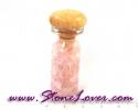 Rose Quartz / หินเกล็ดในขวดแก้ว โรส ควอตซ์ [08012104]