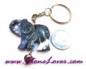 Sodalite Key Chain / พวงกุญแจโซดาไลต์-รูปช้าง [07121209]