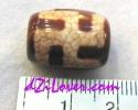 Swastika Form dZi Bead / หินทิเบตสวัสดิกะ [OSW007]
