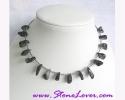 Tourmalinated Quartz Necklace / สร้อยคอแก้วขนเหล็ก [13328]