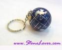 |Fancy Stone Key Chain / พวงกุญแจหินแฟนซี-รูปแผนที่โลก [30070]