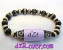 dZi Bead Bracelet / สร้อยข้อมือ-หินทิเบต [28900]